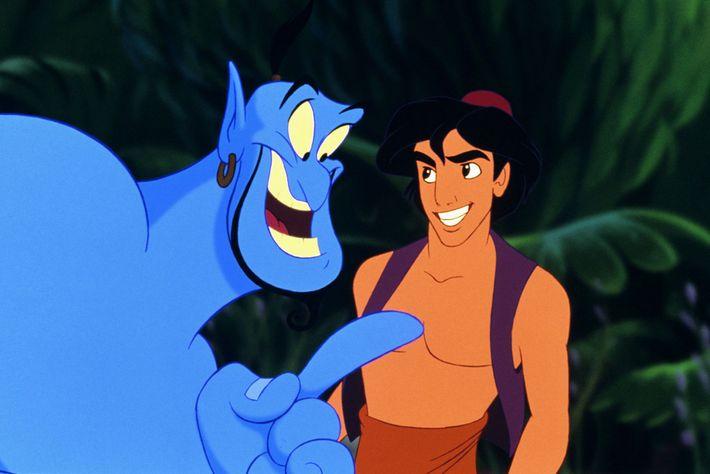 Robin Williams fez uma interpretação icónica do génio, em 1992, na versão de animação de Aladino.