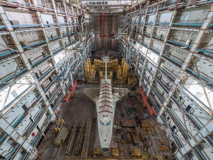 Fotografias dos dois vaivéns espaciais soviéticos