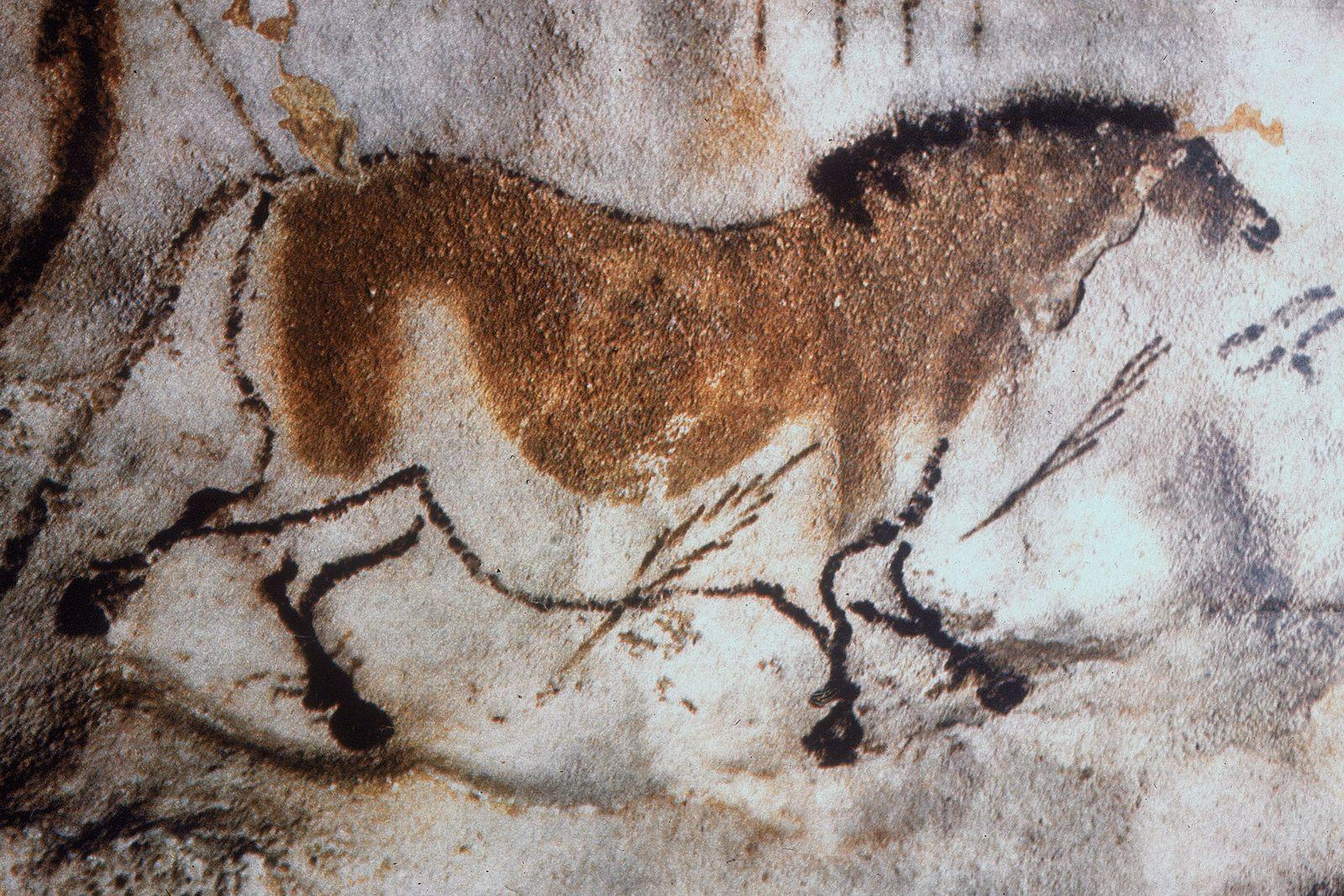 pintura rupestre cavalo
