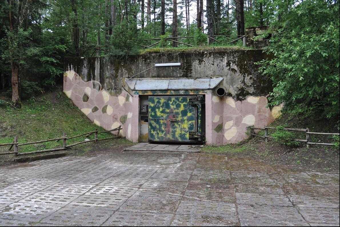 Um bunker militar em Podborsko