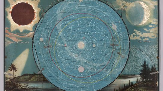 Esta carta mostra o Sol, a Lua e as estrelas.