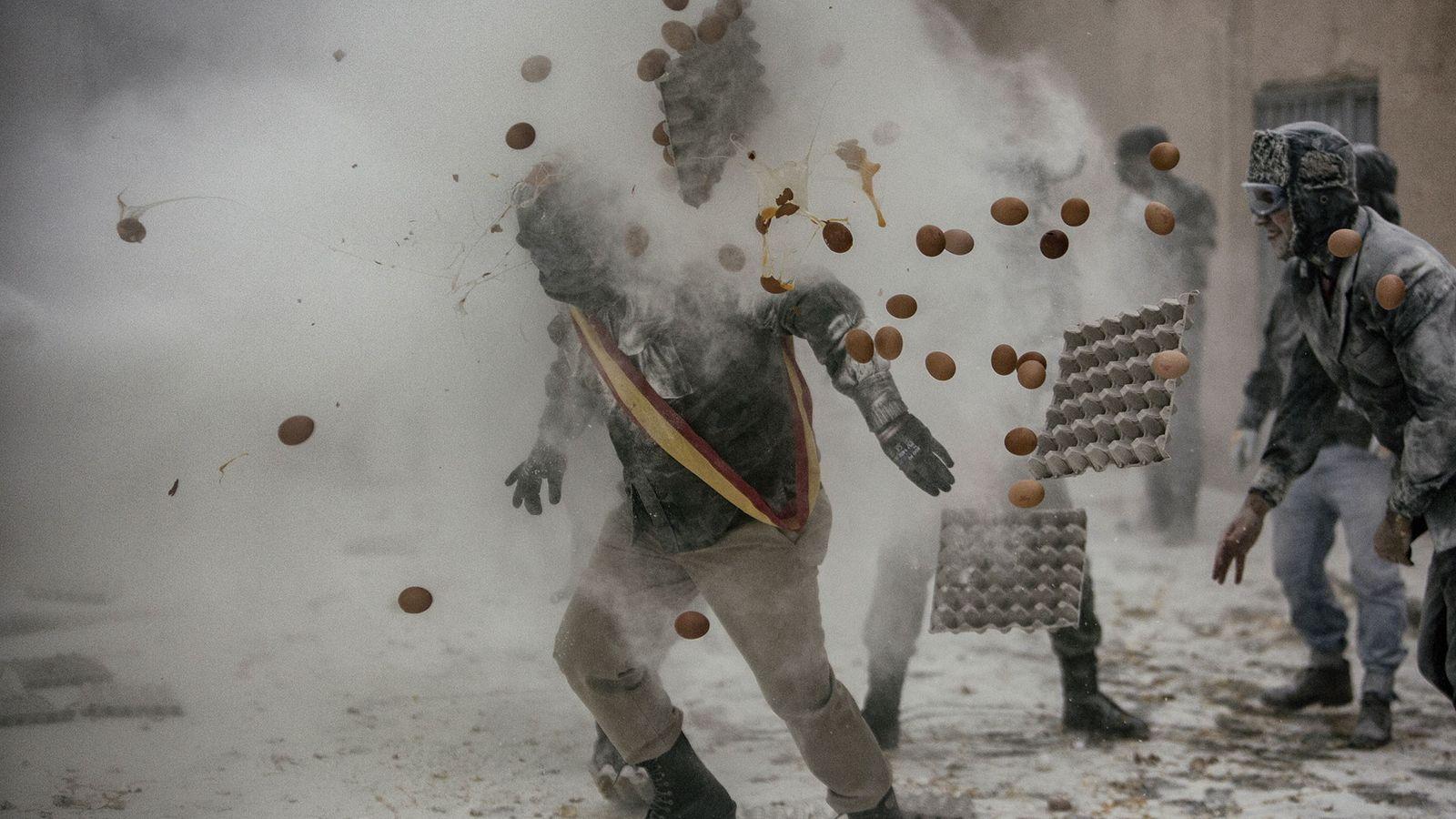 """A """"Grande Batalha"""" dos Els Enfarinats em Espanha."""
