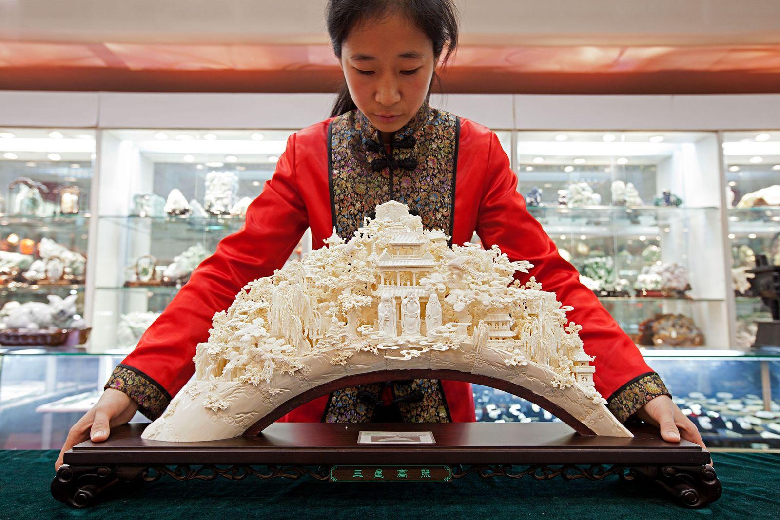 Fim do negócio do marfim na China