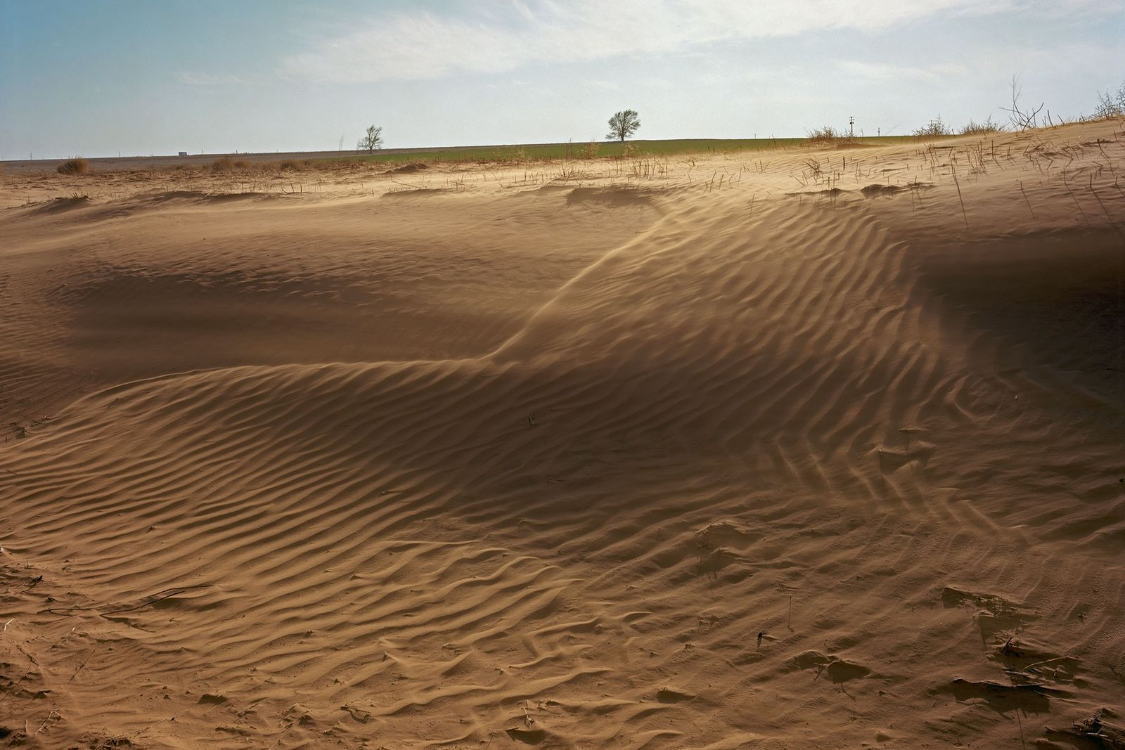 Terreno degradado pelo vento
