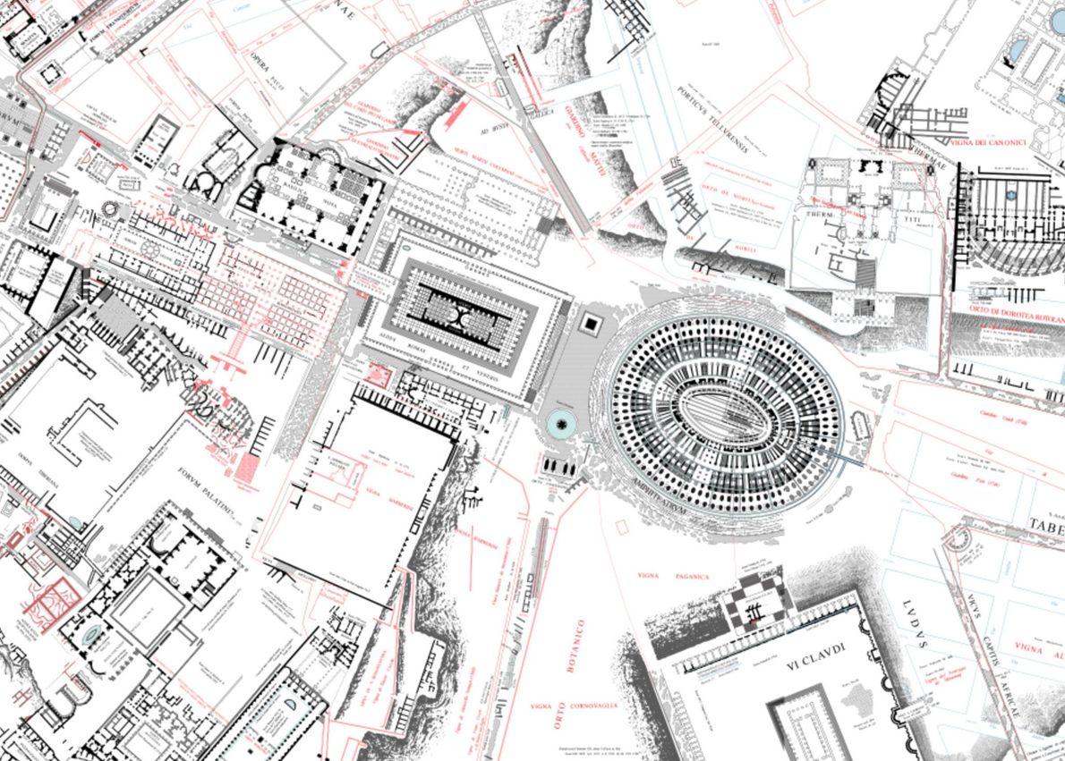 Vista pormenorizada da zona do Coliseu