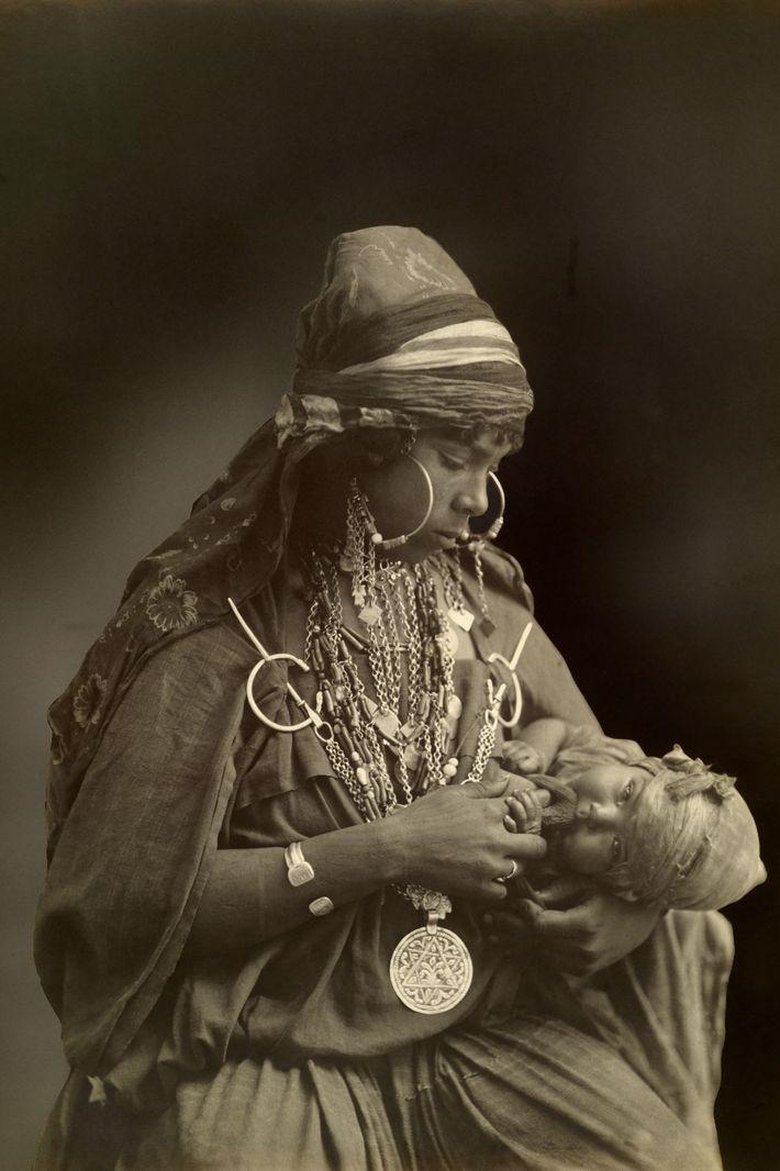 Uma mãe do povo beduíno.
