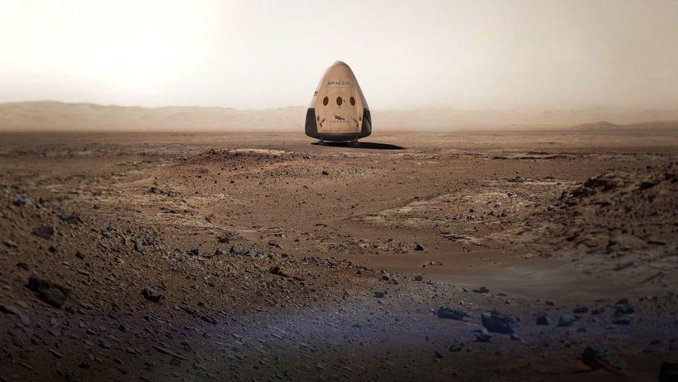 SpaceX Pretende Enviar Nave Espacial para Marte em 2018