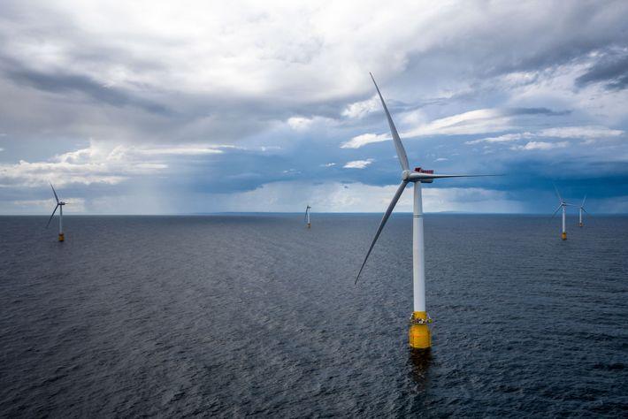 Turbinas eólicas flutuantes