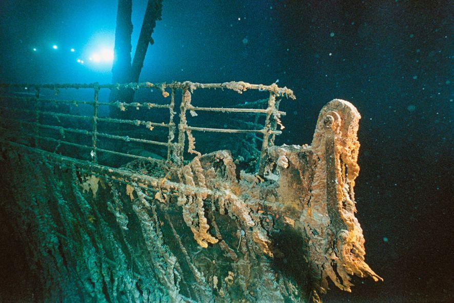 Destroços do navio Titanic