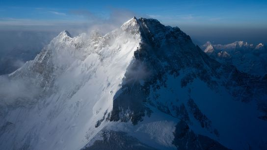 Lhotse, perto do Monte Evereste, é a quarta montanha mais alta do mundo.