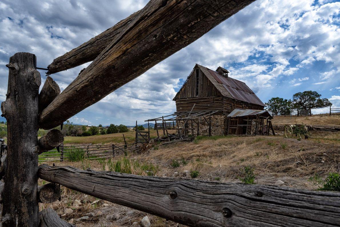 Fora do parque, esta casa de um rancho chamou a atenção de Keith Ladzinski porque se ...
