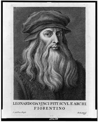 Leonardo Da Vinci por Cosomo Colombin,1812.