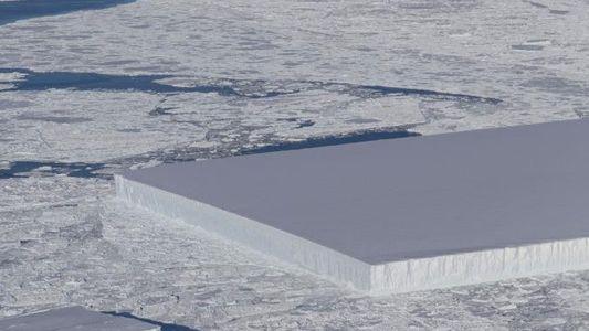 Este Iceberg É um Retângulo Perfeito — Descubra Porquê