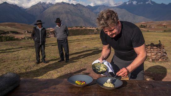 O chef Gordon Ramsay procura inspiração nos ingredientes indígenas do Vale Sagrado do Peru.