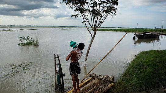 Rio Bramaputra, no Bangladesh