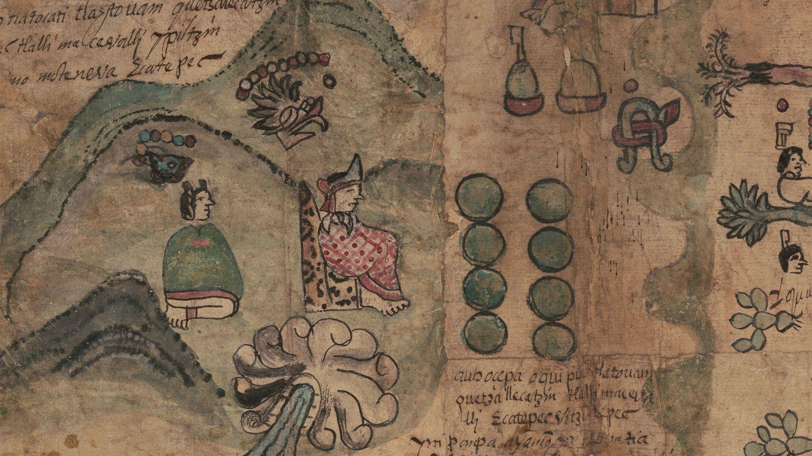 Raro Mapa Asteca do Século 16