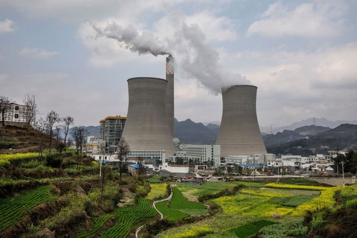 Aumento das emissões de carbono na China