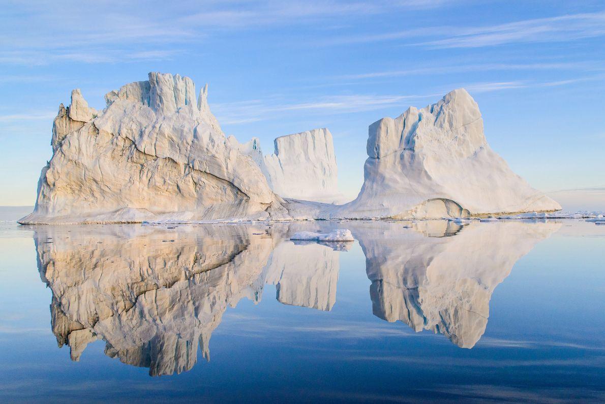 Icebergues na Gronelândia