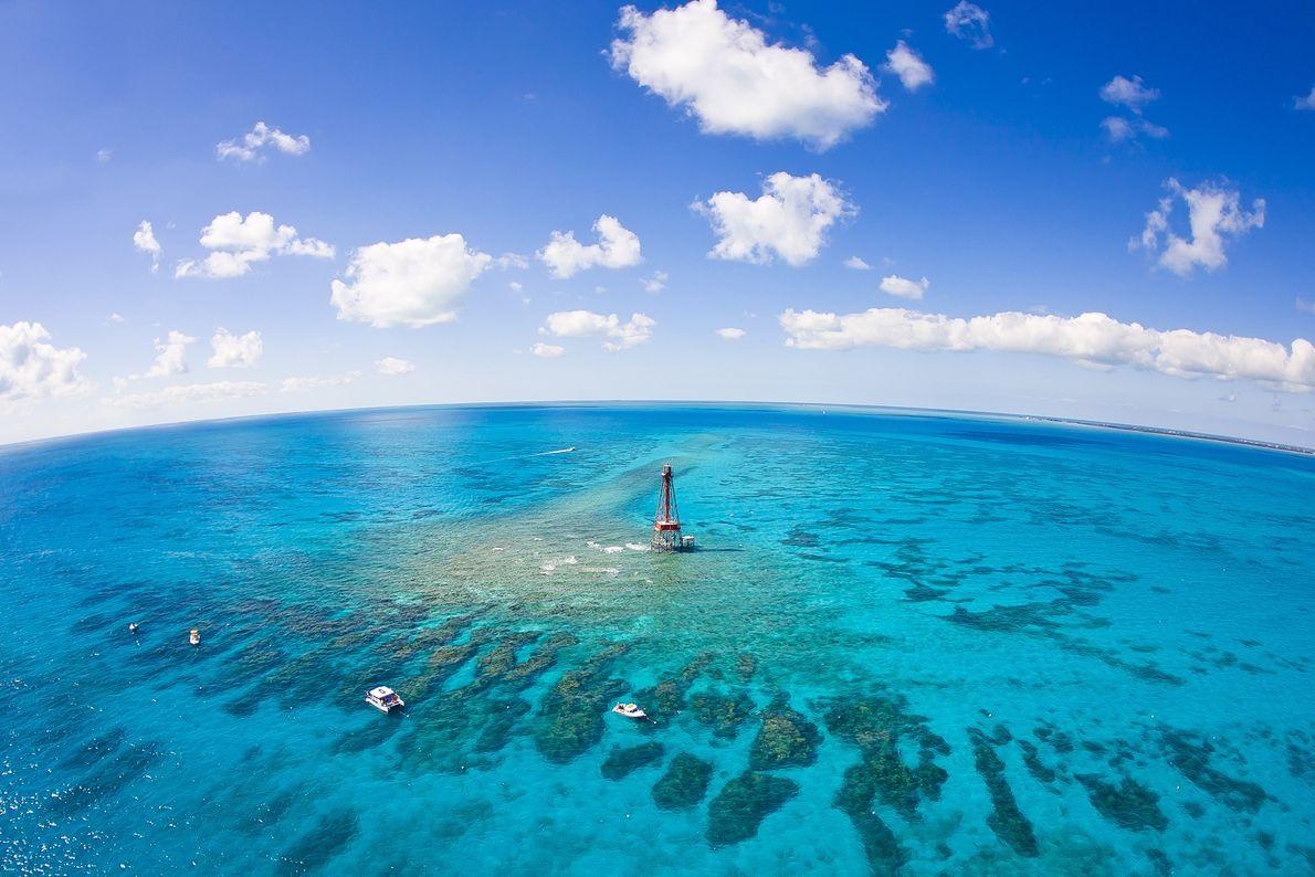 O sistema de recifes de coral de Sombrero, nas Florida Keys