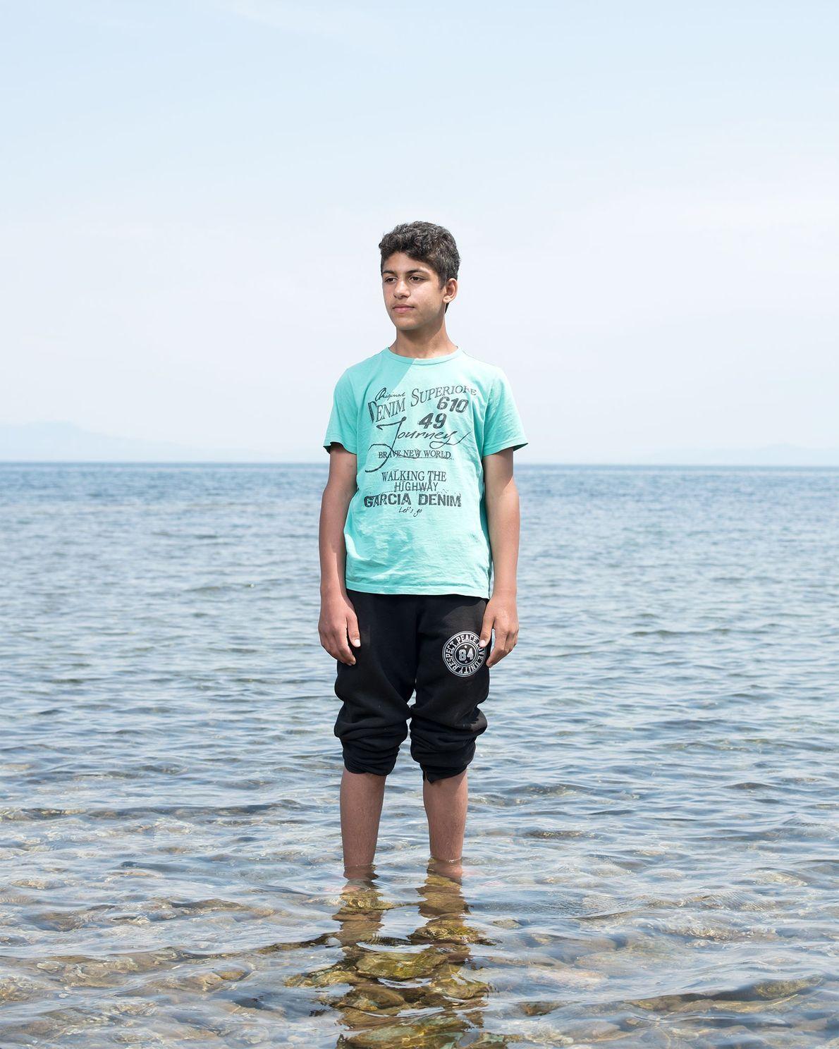 Bilal Al Fadoos chegou a Lesbos pela Turquia num semirrígido.