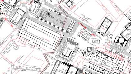 O melhor mapa de Roma é enorme e tem mais de 100 anos