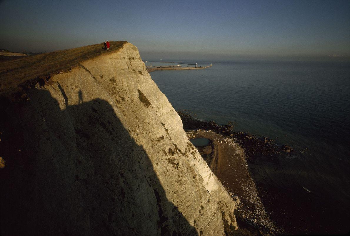 As falésias emblemáticas de Dover.