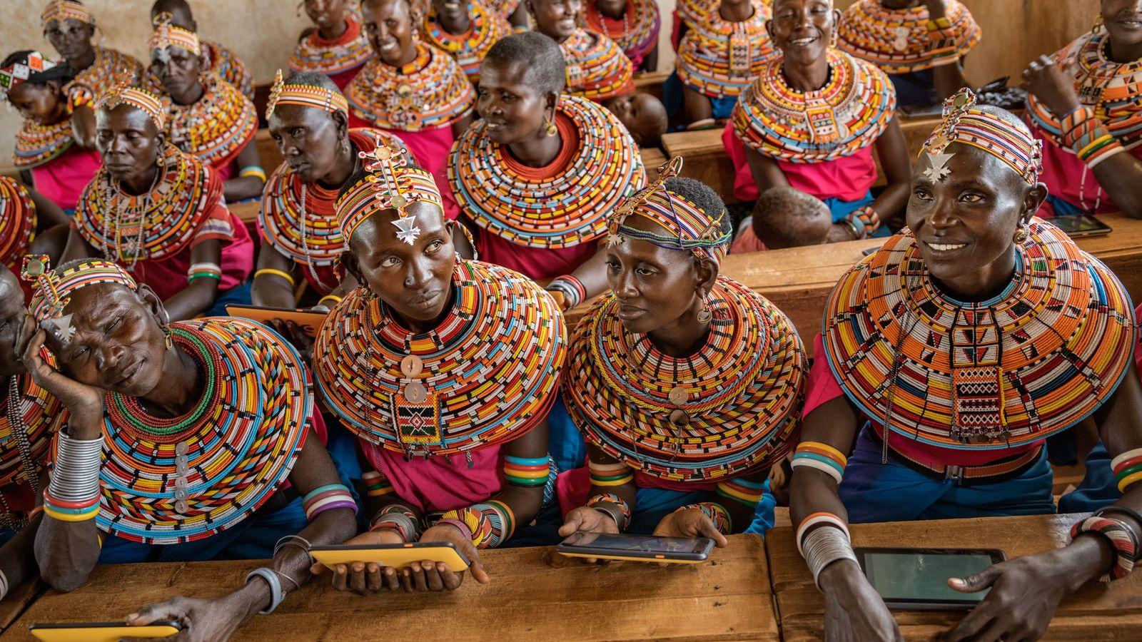 A escola da tribo Samburu
