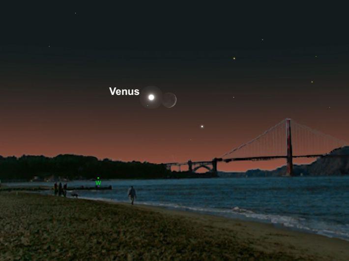 Vénus e a Lua