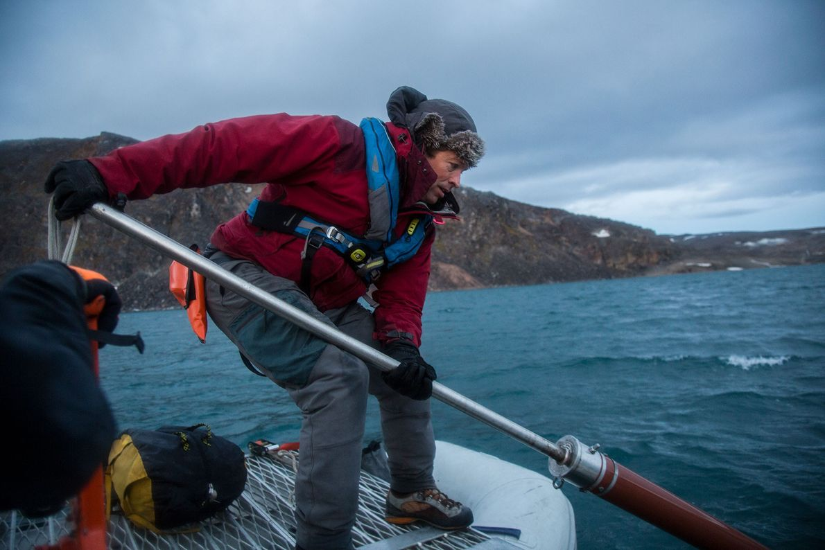 amostra sedimentos svalbard