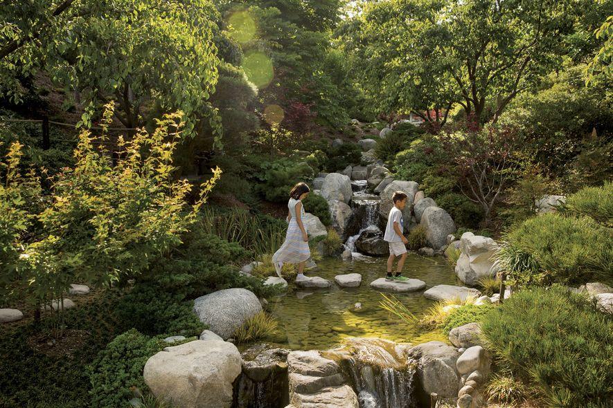 Projetado para fomentar a tranquilidade, o Jardim Japonês da Amizade em San Diego incentiva a contemplação ...