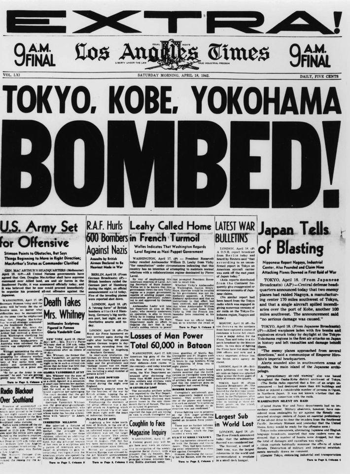 As notícias do arrojado ataque aéreo