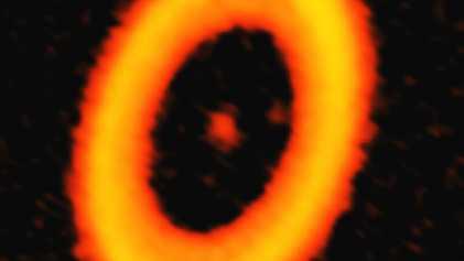 Imagem Inédita de Potencial Lua Alienígena em Formação