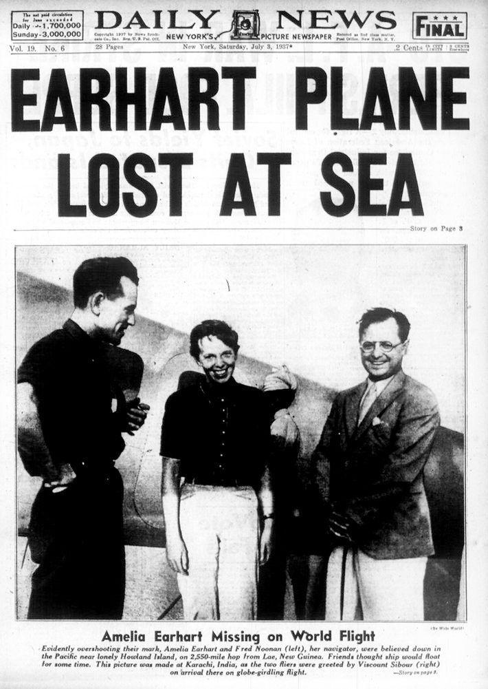 O desaparecimento de Amelia Earhart e Fred Noonan