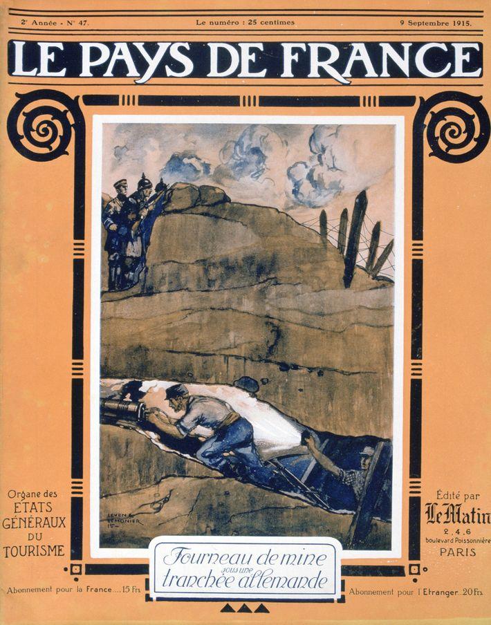 Capa da Revista francesa Le Pays, durante a Primeira Guerra Mundial