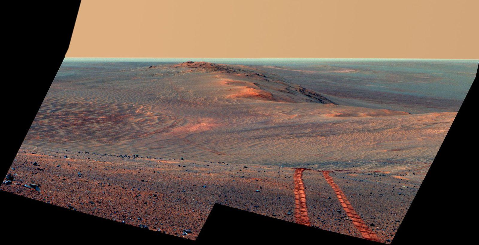 A 15 de agosto de 2014 – o 3754º sol marciano da missão do Opportunity –