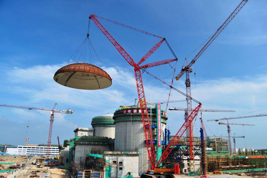 A China está a construir pequenos reatores nucleares muito baratos, como este em Changjiang. Mas a ...