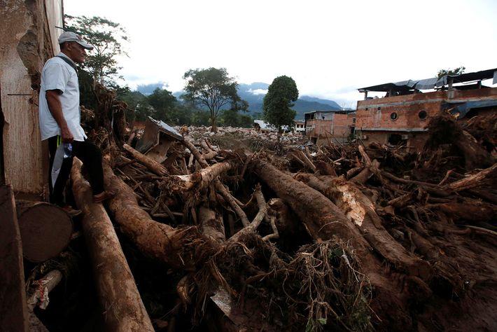 Deslizamento de lama na Colômbia