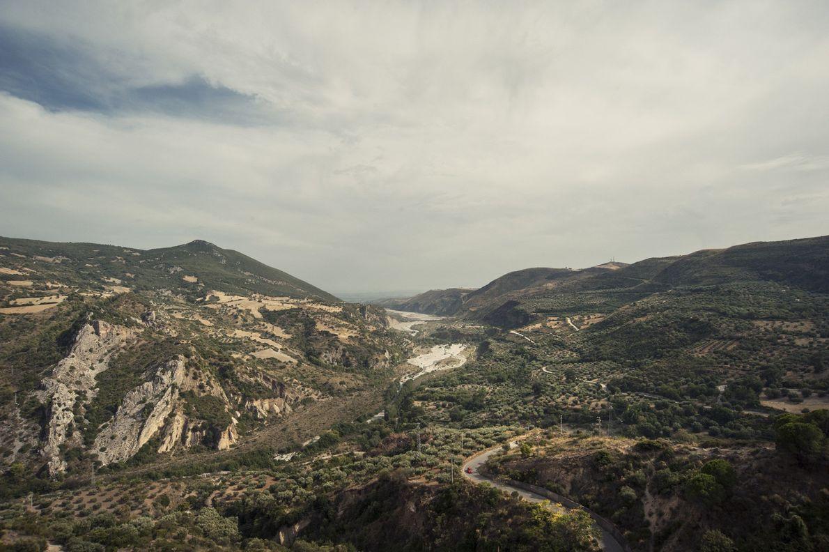 Uma panorâmica da paisagem do Parque Nacional de Pollino.