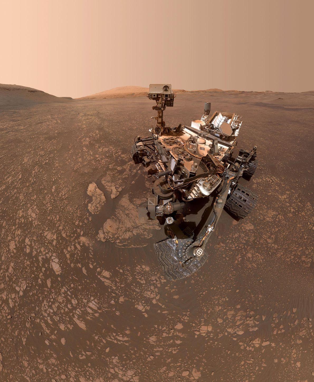 O rover Mars Curiosity da NASA tirou esta selfie no dia 12 de maio de 2019. ...