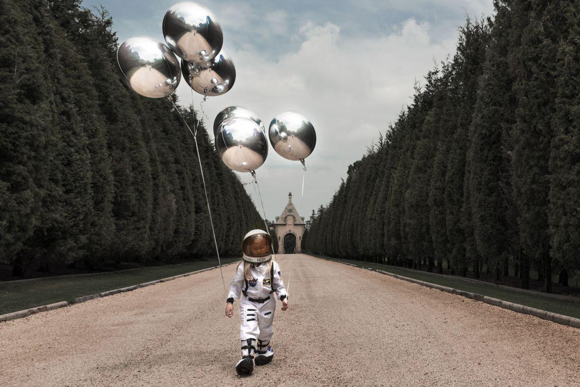 """""""A minha filha quer voar até à lua"""", escreve o fotógrafo Your Shot, Juan Osorio. """"Eu ..."""