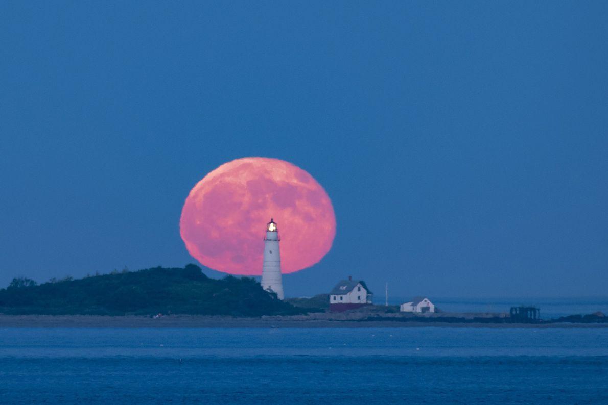 Lua Cheia vermelha, Boston