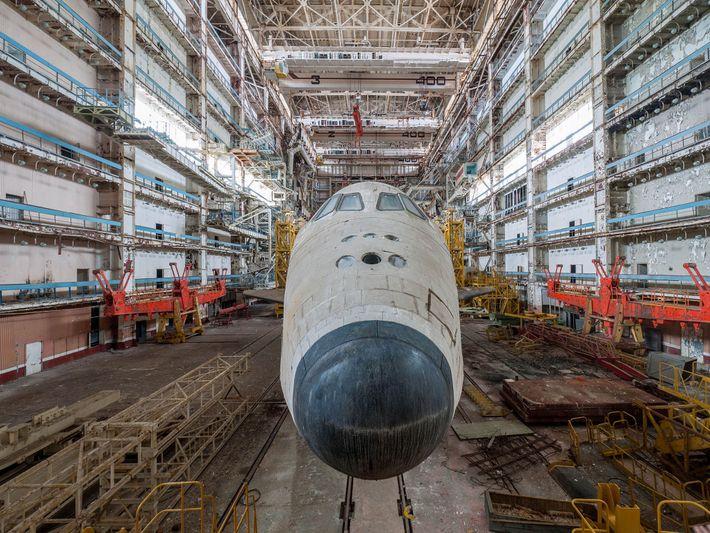 Fotografia de nave espacial Russa