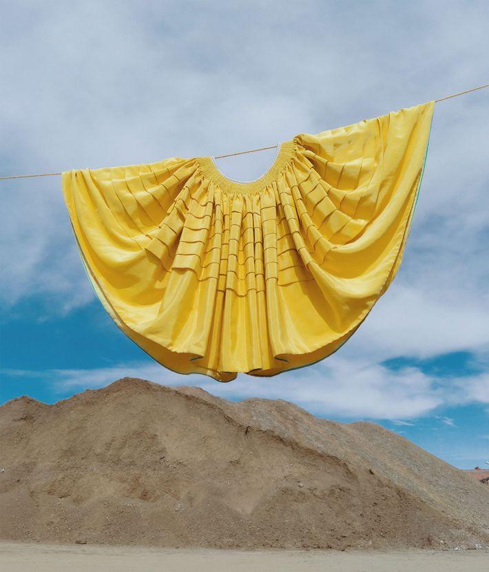 As saias volumosas, que as mulheres da Bolívia foram obrigadas a usar pelos colonos espanhóis.