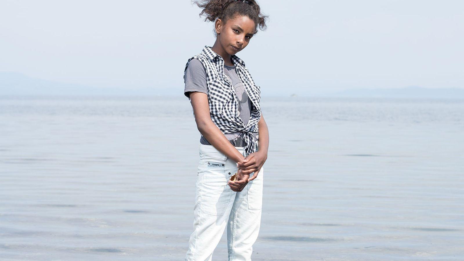 Riham Saad, de 12 anos, nasceu e foi criada em Damasco.