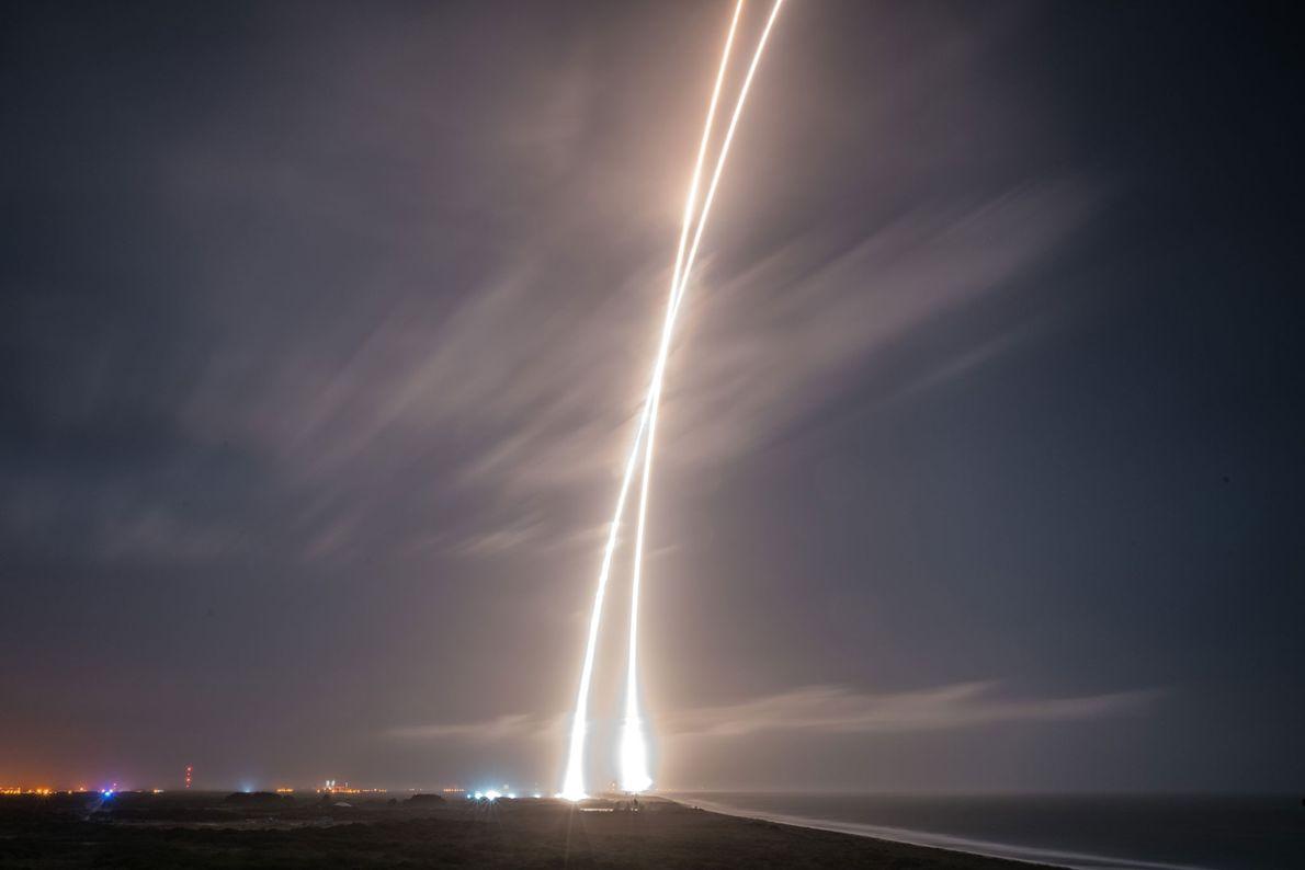 Aterragem do Falcon 9 da SpaceX