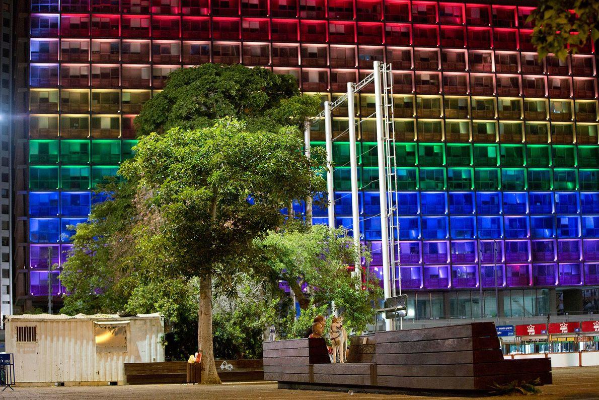 O edifício municipal de Tel Aviv