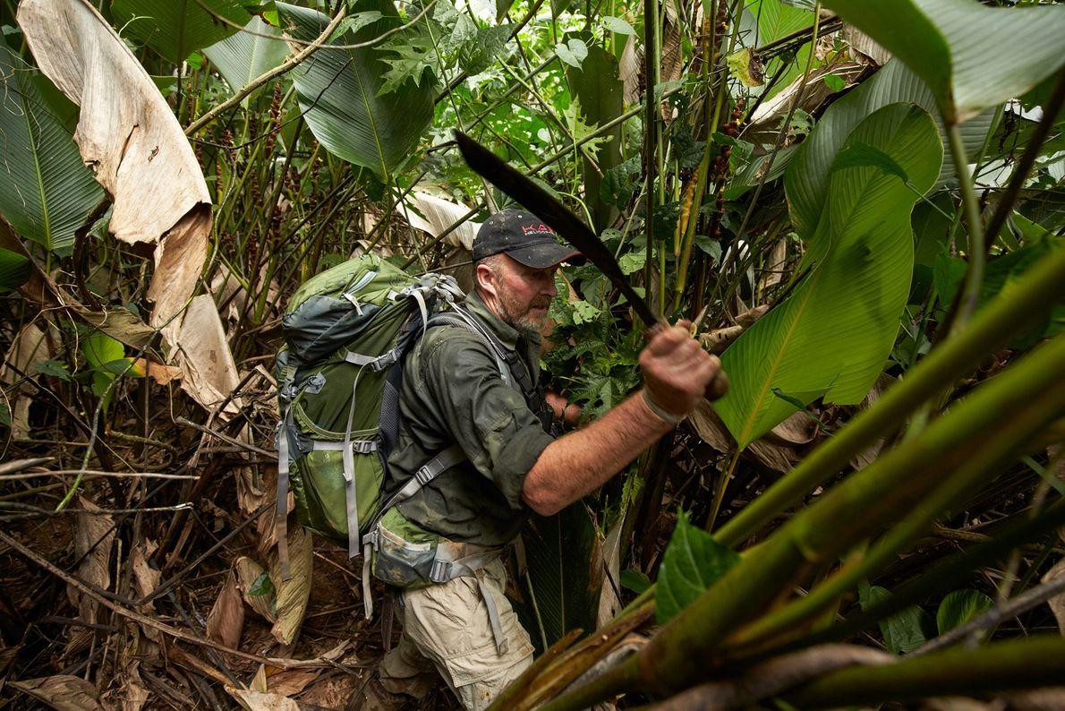 Fotografia do ex-soldado britânico SAS (Serviço Aéreo Especial), Andrew Wood