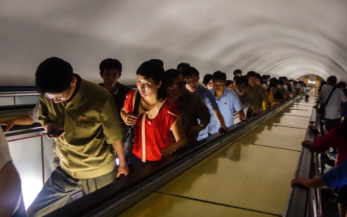 O metro de Pyongyang é um dos sistemas de metro mais profundos
