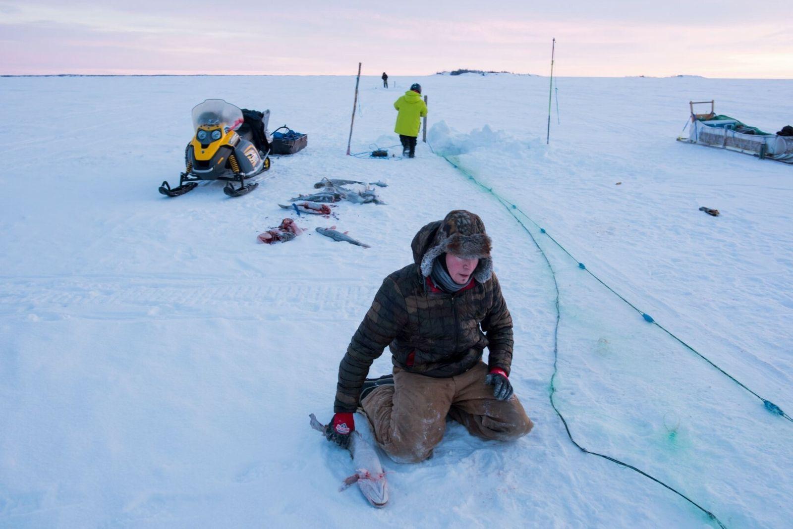 buraco de pesca no gelo