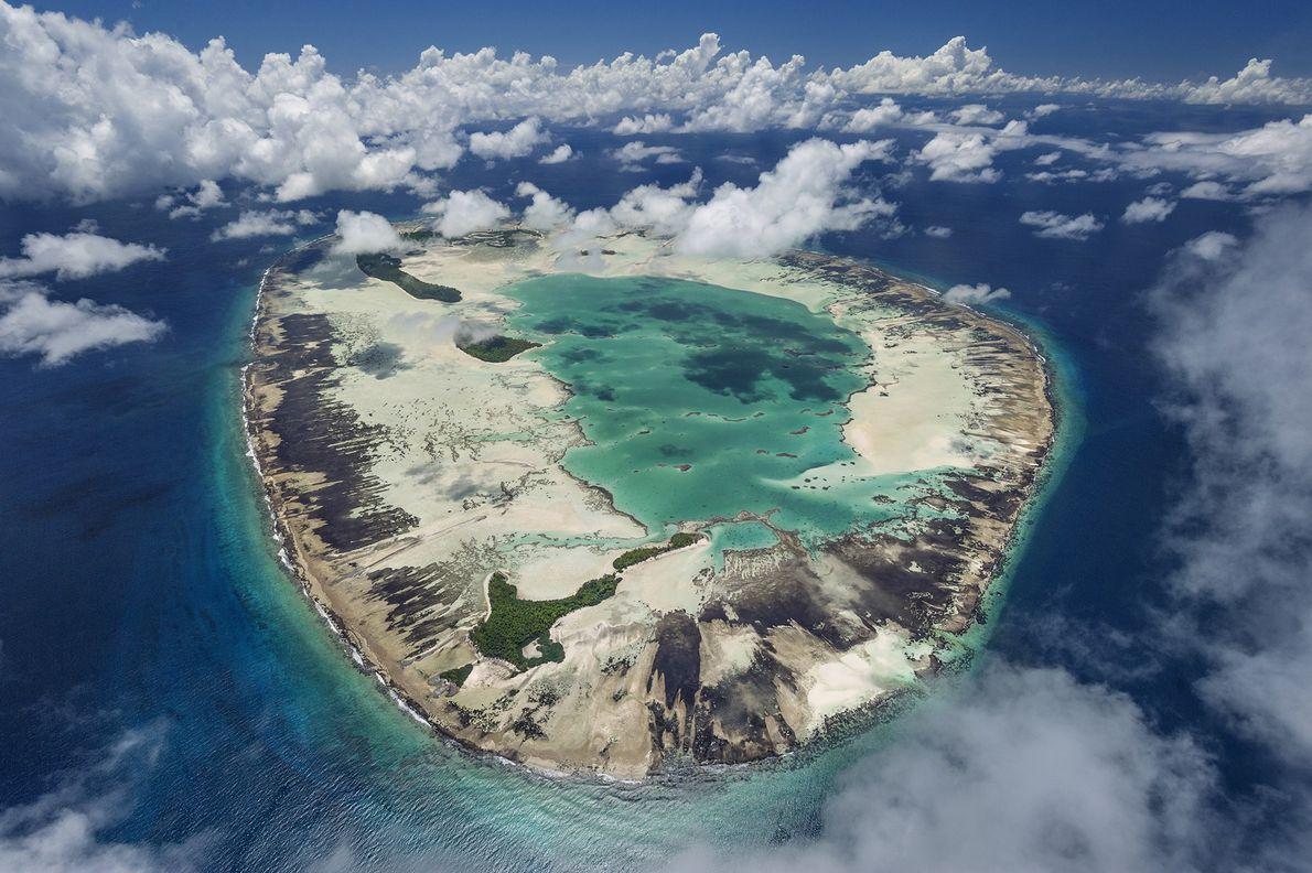 Atol de Saint Joseph nas ilhas Seychelles.